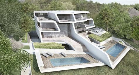 Dream House Design Inside And Outside by Futuristic House By Zaha Hadid Architects