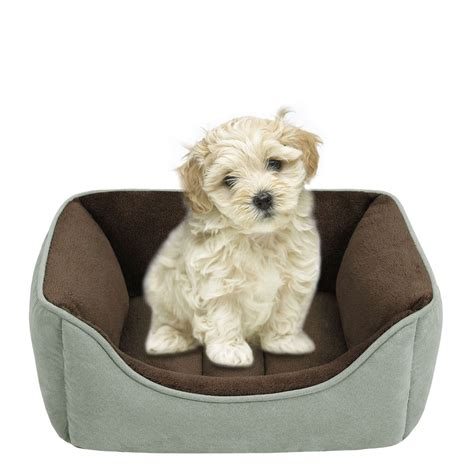 dog bed r soft touch faux suede reversible rectangular cuddler
