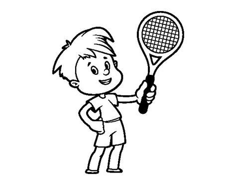 imagenes de niños jugando tenis para colorear dibujo de ni 241 o con raqueta para colorear dibujos net