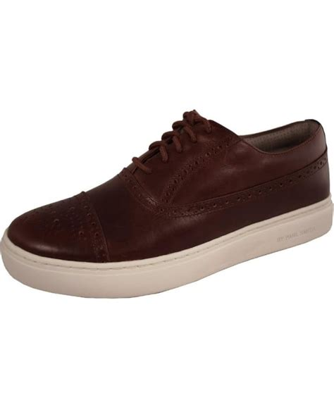Paul Smith Serge Embossed Trainers paul smith shoes brown leather fairey trainers shoes