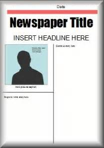 news report template ks2 this free microsoft word newspaper template could be used