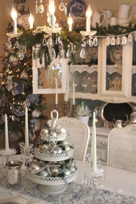 shabby chic christmas decor room christmas decor ideas