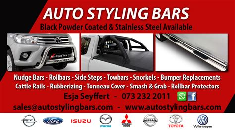 nudge bars rollbars side steps towbars tonneau covers