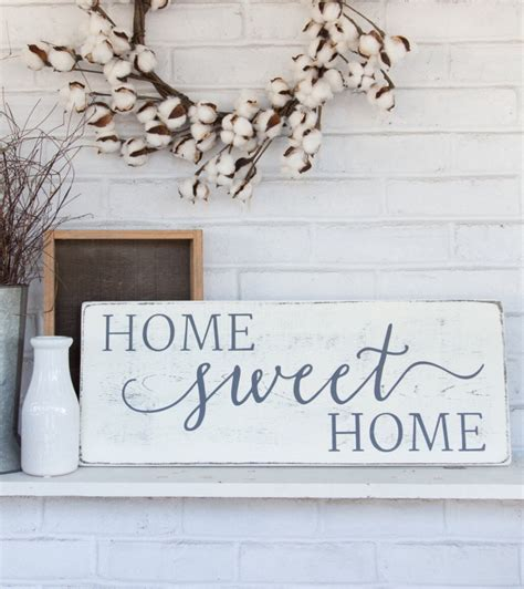 home sweet home rustic wood sign rustic wall decor
