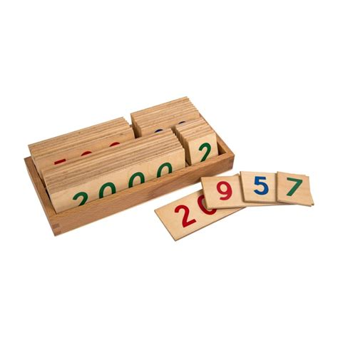 Pocket Woodenjoy 1 Lubang small wooden number cards with box 1 9000 ljma015 by leader montessori usa