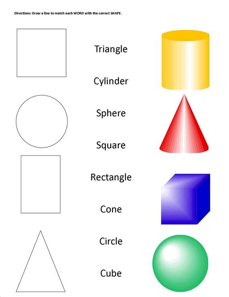 printable shapes for first grade geometric shapes solids worksheet staar alt ideas