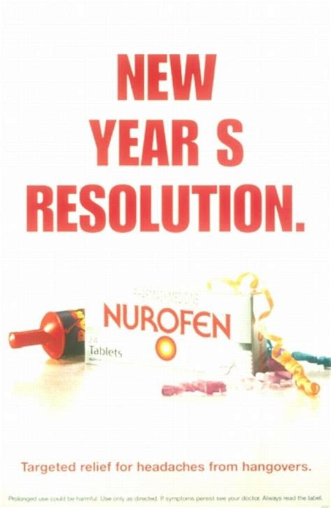 advertisement for new year nurofen quot new year s resolution quot print ad by mccann