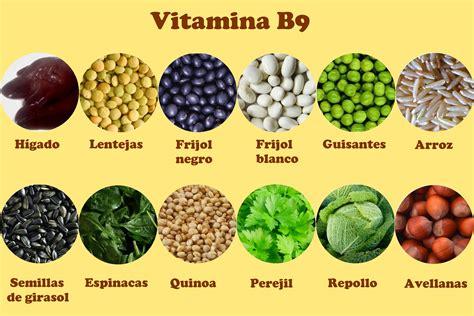b12 vitamina alimenti vitamina b9 o 225 cido f 243 lico