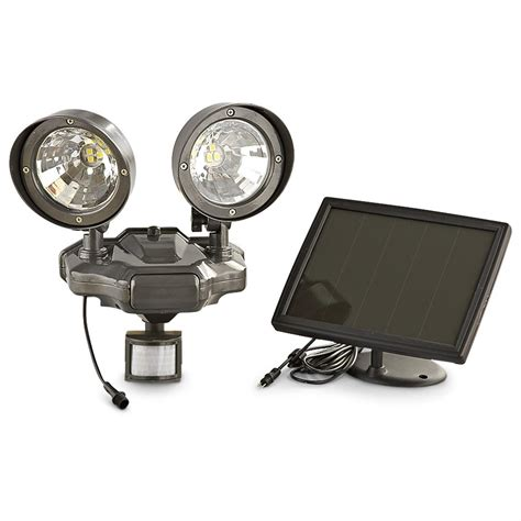 solar flood light review solar powered security dual floodlight 164829 home