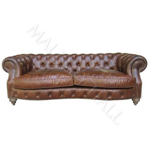 Brown Tufted Chesterfield Rolled Arm Leather Sofa Aluminum Tufted Rolled Arm Sofa