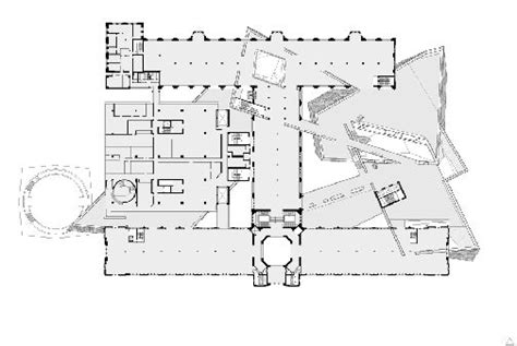 royal ontario museum floor plan crystallizing an image canadian architect
