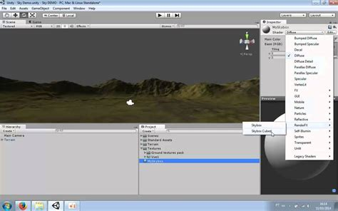 unity tutorial skybox unity3d tutorial how to make skybox 360 single texture