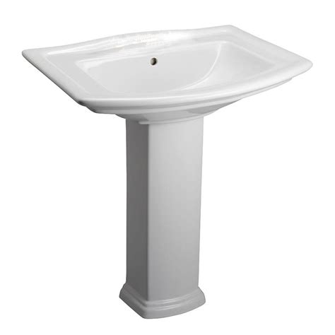 Pedestal Sink And Toilet Combo Washington 650 4 In Pedestal Combo Bathroom Sink In White