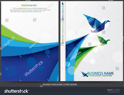 layout cover annual report annual report cover design stock vector 271803686