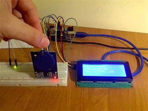 tutorial arduino rfid arduino rfid rc522 lcd i2c youtube