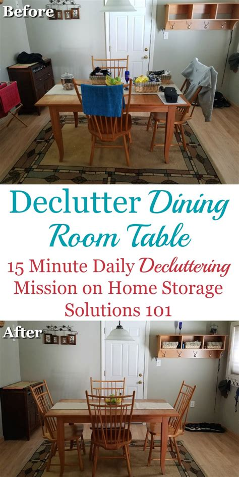 home storage solutions 101 how to declutter your dining room table