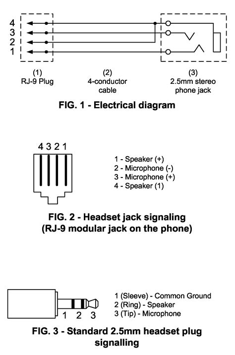 telephone handset cable wiring diagram free