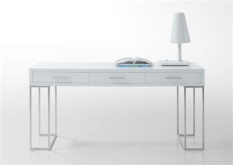 Modern White Desks with Sheldon Modern White Lacquer Desk Ebay
