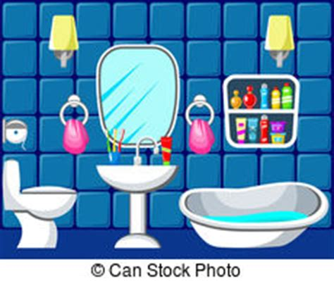 clip art bathroom domestic bathroom vector clipart eps images 1 869