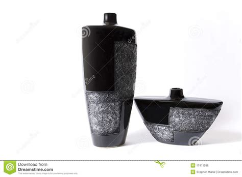 modern black empty flower vase royalty free stock image
