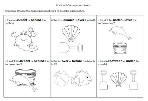 Beach Positional Words Packet Expresslyspeaking