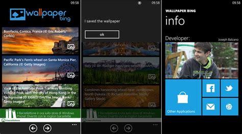 bing wallpaper windows phone 8 wallpaper bing una semplice applicazione per scaricare le