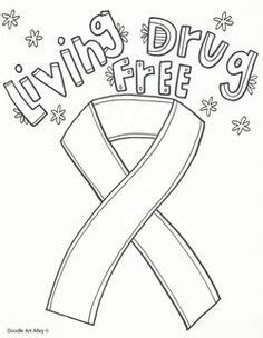 coloring pages drug free red ribbon week in a drug and violence prevention