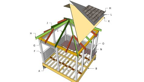 Square Gazebo Roof Framing How To Build A Gazebo Howtospecialist How To Build