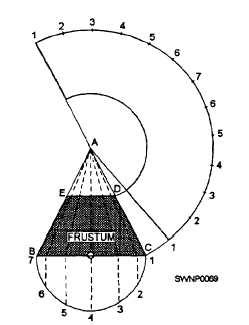 sheet metal drawing pattern development triangular development