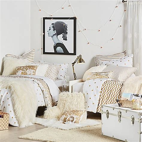 glam bedding glam it up anthology gold glam bed bath beyond