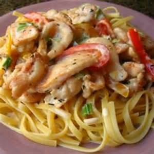 Main Dish Shrimp Recipes - cajun chicken pasta recipe dishmaps