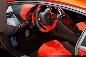 Interior Lamborghini Aventador Orange Lamborghini Aventador Interior