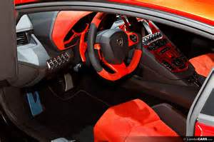 Inside Lamborghini Aventador Orange Lamborghini Aventador Interior