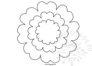 Flower With Petals Template by Printable Flower Petal Template Coloring Page