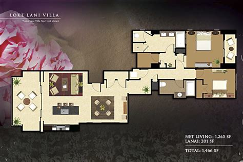 Floorplans   Beach Villas Vacation Rentals / Ko Olina