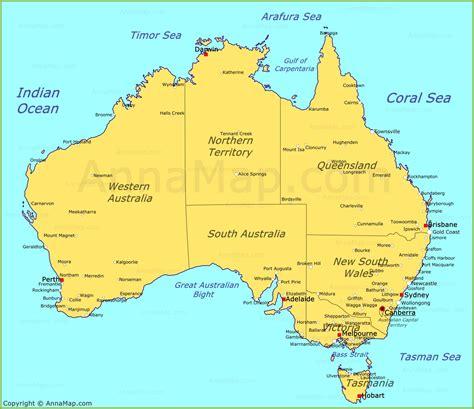 map of austriala australia map map of australia annamap