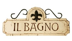 italian word for bathroom il bagno sign bagno sign italian bathroom sign powder room signs
