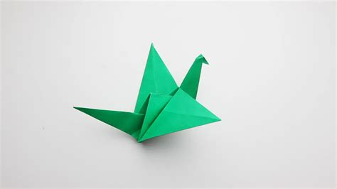Origami Of A Bird - green origami birds 2018