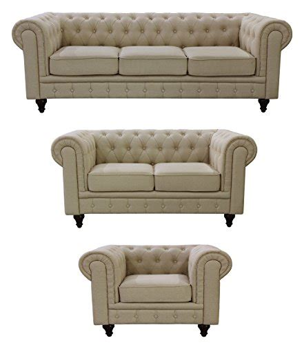 chesterfield sofa set us pride furniture s5071 3pc linen fabric chesterfield
