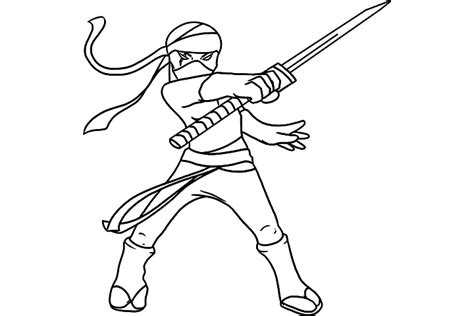 ninja cat coloring page ninja warrior coloring pages