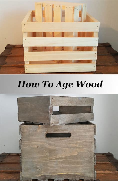 how to age wood for a weathered look
