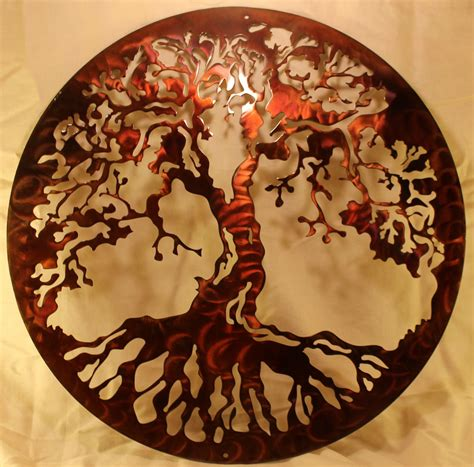 tree of home decor 20 quot tree of silhouette metal wall home decor ebay