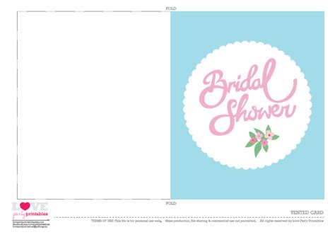 cards for bridal shower template free bridal shower printables from