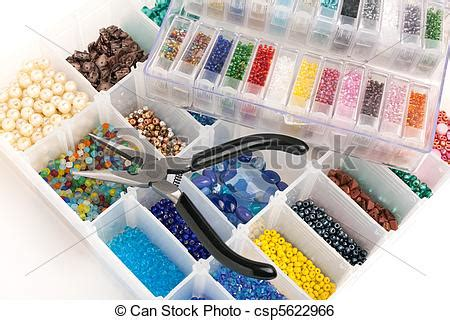 stock image of beads for jewelry making an organizer