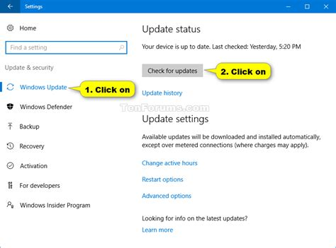 install windows 10 getting updates check for and install windows update in windows 10