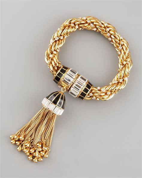 Rachel zoe Tassel Bracelet in Metallic   Lyst