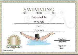 swimming certificates templates sports certificates certificate of achievement in