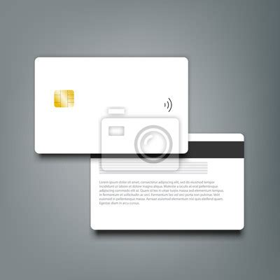 clear bank card template photoshop obraz banking chip credit card realistic mockup clear