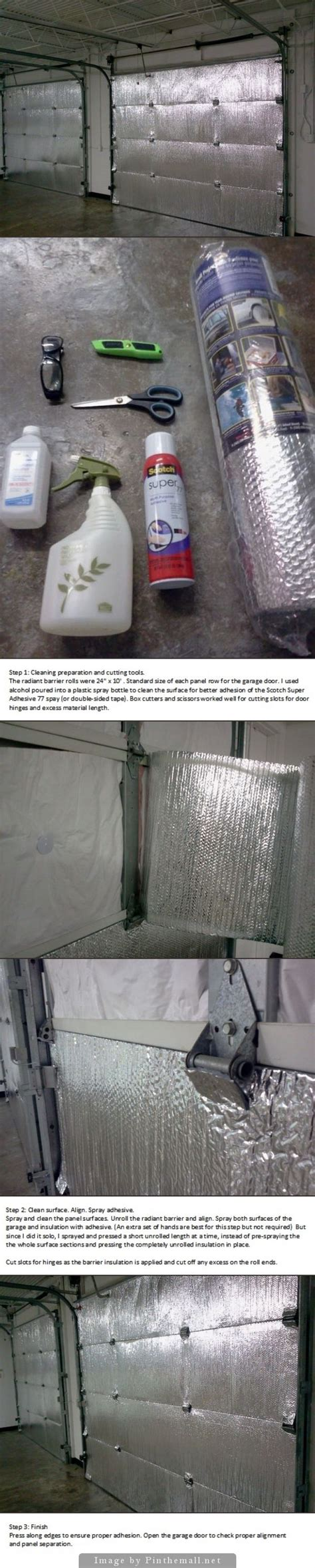 Garage Door Radiant Barrier Best 25 Garage Door Insulation Ideas On Diy