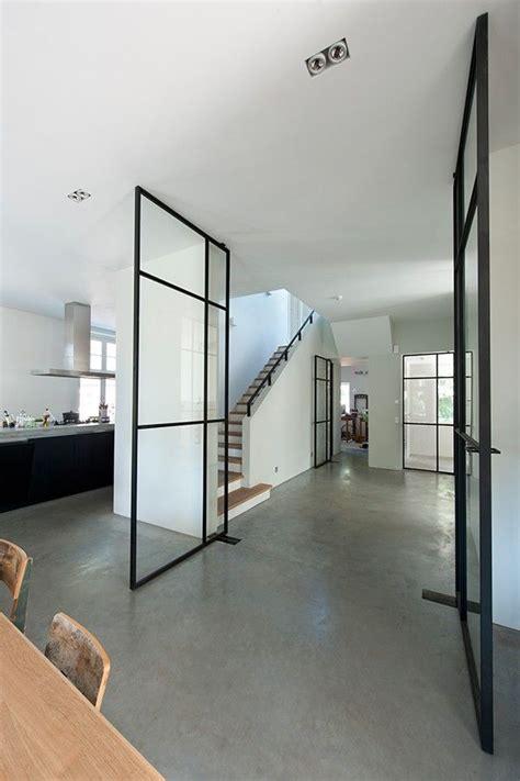 Thin Doors Interior by Black Framed Windows Tao Of